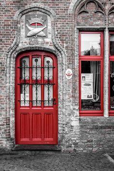 The Red Door in Belgium. Doris around the world