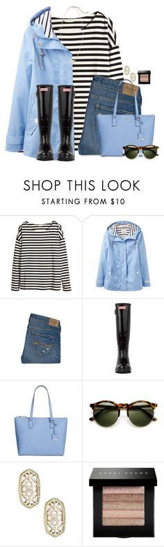 """""""~after the rain theres always a rainbow~"""" by flroasburn ❤ liked on Polyvore featuring H&M, Joules, Abercrombie & Fitch, Hunter, Kate Spade, Kendra Scott and Bobbi Brown Cosmetics"""