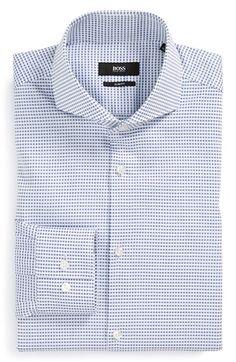 Men's BOSS 'Dwayne' Slim Fit Check Dress Shirt Mens Work Shirts, Cool Shirts, Men Shirts, Shirt Men, Mens Wardrobe Essentials, Men's Wardrobe, Cutaway Collar, Casual Wear For Men, Tailored Shirts