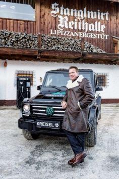 Arnold Schwarzenegger fährt von Kreisel elektrifizierte G-Klasse (Videos)