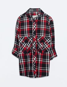 ZARA Red, white and blue checked shirt