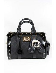 Versace Handbags Back Canvas and Leather