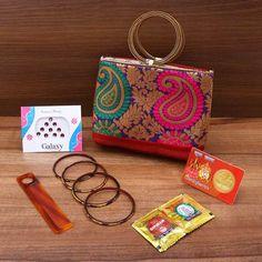 Gift combo hand bag mixed design with bangle type handle Indian return gift Handbags Online, Purses And Handbags, Return Gifts Indian, Handbags For School, Wholesale Purses, Handbag Storage, Luxury Purses, Fabric Purses, Produce Bags