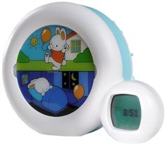 Claessens' Kids Kid'Sleep Moon Nightlight, White/Blue The kid'sleep moon has many benefits, as a night light and sleep teacher for young children and an alarm Toddler Alarm Clock, Moon Clock, Teaching Clock, Se Lever, Clock For Kids, Kids Clocks, Kids Usa, Thing 1, Stay In Bed