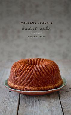 Receta de bundt cake de manzana y canela, receta de bizcocho
