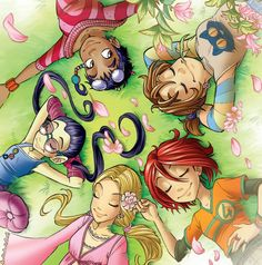 All girls from W.i.t.c.h., Disney