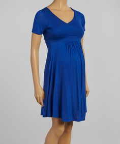 Another great find on #zulily! Royal Maternity Surplice Dress #zulilyfinds