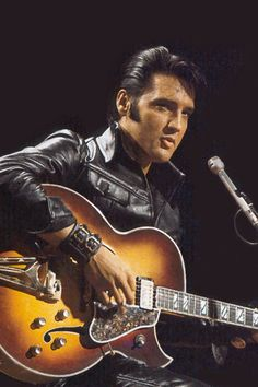 Elvis Presley Playing Guitar in Comeback Special 1968