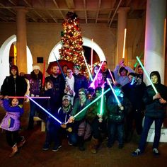 Joining other Star Wars enthusiasts in a Carrie Fisher Lightsaber Memorial at the Markethouse in Downtown Fayetteville. #toloveitnotwedareyou #allamericanjedi #downtownfayettevillenc