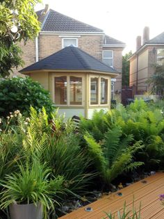 Decking Area, House Beautiful, Planting, Compact, Garden Design, Design Ideas, Places, Summer, Room
