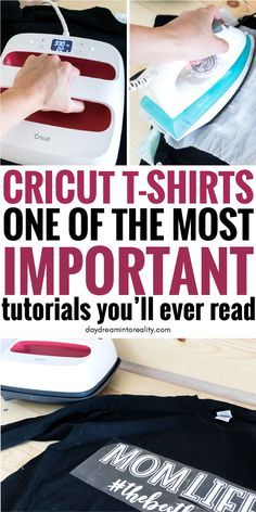 Make beautiful T Shirts with your Cricut Maker/Explore using Iron On. This is the best step by step tutorial youll ever find!