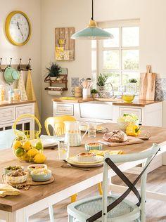 Spring time dining and kitchen inspiration   Mint and Lemon decor trend   Maisons du Monde
