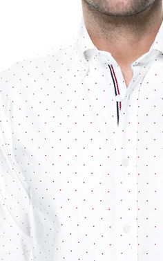 POLKA DOT OXFORD SHIRT - Casual - Shirts - Man - ZARA India