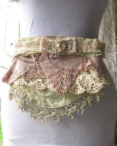 Fanny Pack Hip Bag Apron Style with Blush and by FrillSeekerz