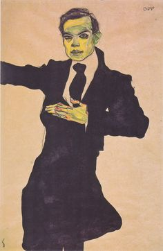 Egon Schiele - Der Maler Max Oppenheimer - 1910 - Egon Schiele - Wikipedia, the free encyclopedia