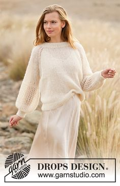 Free knitting patterns and crochet patterns by DROPS Design Drops Design, Baby Knitting Patterns, Baby Patterns, Knitting Designs, Scarf Patterns, Knitting Tutorials, Crochet Patterns, Finger Knitting, Free Knitting