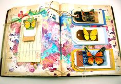 Butterflies look like they are flying off the page! By Tracie Lyn Huskamp