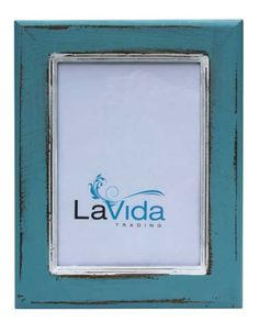 Rustic Looking Blue Photo Frame