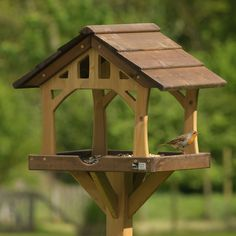 Country barn bird table