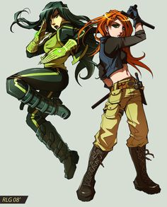 Comm: Kim and Shego by Soap-Committee.deviantart.com. I used to love this show & still do when I can watch it!!