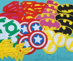 Super Hero Party: Buy blank capes, make felt logos for capes, or make felt pieces so kids can do craft and create their own logo for their cape