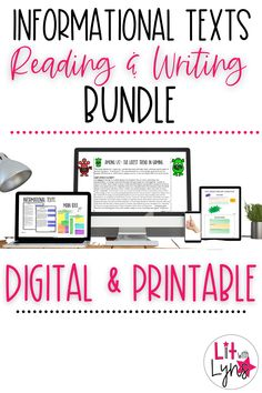 This digital & printable bundle includes 6 informational text | nonfiction reading and writing resources. Not only will your students develop a stronger understanding of informational texts and text structures, but they will also be able to write a strong informational essay. Perfect for 5th-8th grade, middle school. #informationaltext #virtuallearning Writing Lesson Plans, Writing Lessons, Teaching Writing, Teaching Strategies, Teaching Tips, Reading Resources, School Resources, Reading Passages, Reading Comprehension