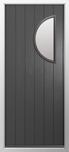 Composite door, Moon right in Anthracite grey. High quality, secure and in your choice of colours! Check out our new extended range and design your new composite door today with Just Value Doors.