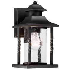 Twisted Column Outdoor Wall Lantern - Small