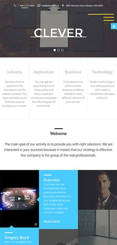 Business website inspirations at your coffee break? Browse for more Joomla #templates! // Regular price: $75 // Sources available: .PSD, .PHP #Business #Joomla