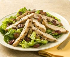 Chicken Salad with Red Grapes and Dried Cherries. A perfect cool meal for a hot summer day. #recipe #salad #chickensalad