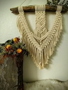Your place to buy and sell all things handmade Diy Wall Art, Wall Decor, Macrame Design, Sell On Etsy, Wall Hangings, Driftwood, Boho Decor, Knots, Bedroom Ideas