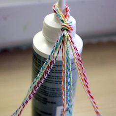 Papered Cottage: Kids Craft: Braided Twine Bracelet