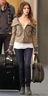 Anna Kendrick's street style, love the jacket. Acs