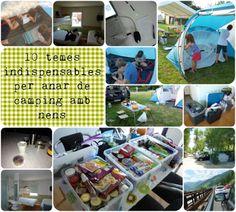 Tips de viatges: 10 temes indispensables per anar de camping amb nens