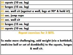 Pyramid Leg workout