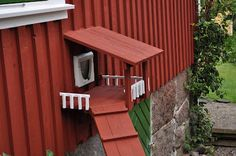 cat door with a porch