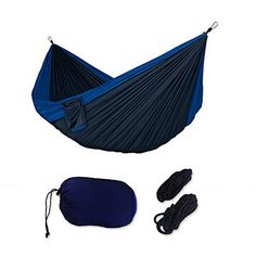truck camping cot - Pro Outdoor Hammock | Ultra Durable and Portable Navy Blue Nylon Double Hammock with Strong Hanging Rope Up to 440 lbs for Backyard Camping Hiking Traveling | 19.3 -- Click image for more details. (This is an affiliate link) #CampingSupplies Camping Cot, Backyard Camping, Truck Camping, Outdoor Hammock, Hammocks, Double Hammock, Cots, Hanging Rope, Camping Supplies