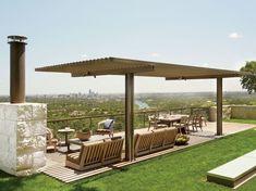 tonnelle de jardin - modèle pour terrasse et idée d'aménagement extérieur