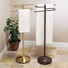 InterDesign Axis Free Standing Towel Rack for Bathroom Vanities
