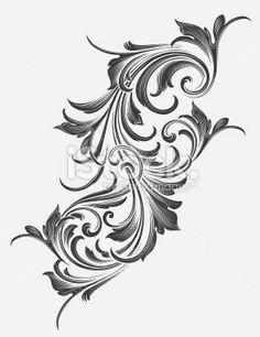 Simple flower designs black and white free download clip art filigree tattoo baroque tattoo victorian tattoo victorian style tattoos filigree design mightylinksfo
