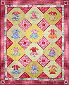doll dresses quilts - Google Search Cute Quilts, Baby Quilts, Dolly Dress Up, Applique Quilts, Little Dresses, Quilting Designs, Baby Dress, Quilt Blocks, Embroidery