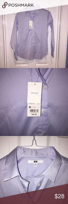 Uniqlo shirt Uniqlo light blue, button down shirt. NWT, never been worn! Size medium. Uniqlo Tops Button Down Shirts