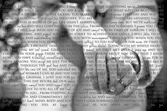 Wedding vows in front of wedding photo. This can be framed or even put on canvas. kayladushane