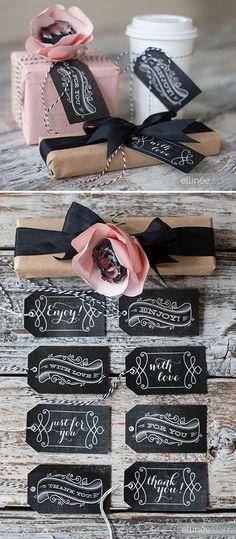 printable chalkboard gift tags.