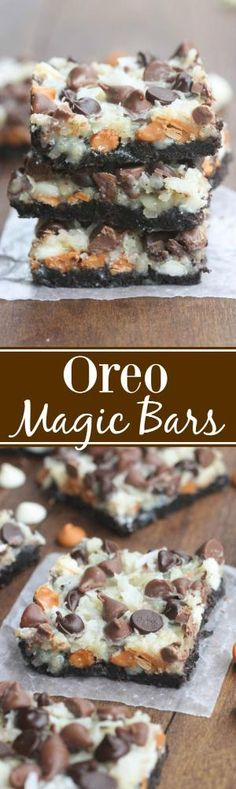 Oreo Magic Bars - Seven simple layers of Oreo chocolate bliss starting with an Oreo crust, three different types of chocolate chips, coconut and nuts. This is the EASIEST dessert, and always a party favorite. | Tastes Better From Scratch by milagros