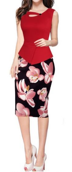 REPHYLLIS Women's Elegant Chic Bodycon Formal Wear to Work Pencil Dress This short sleeve bodycon pencil dress is graceful and can help you well display your Work Dresses For Women, Plus Dresses, Suits For Women, Formal Dresses, Sheath Dresses, Party Dresses, Elegant Chic, Elegant Outfit, Elegant Woman