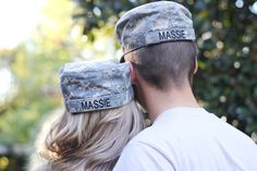 Cute engagement announcement for a military couple! Engagement photo by Claire Diana Photography; Athens