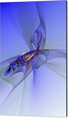 Fine Art Digital Art Canvas Print featuring the digital art Abstract 110210 by David Lane
