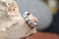 Hey, I found this really awesome Etsy listing at https://www.etsy.com/listing/192328262/sterling-silver-and-cubic-zirconia-band