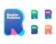 "Check out this project: ""Baskin Robbins R. Logo Design App, App Logo, Design Poster, Identity Design, Ci Design, Logo Design Trends, Visual Identity, Logo Branding, Corporate Branding"